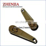 die casting zinc alloy metal cut through logo puller for handbag zipper