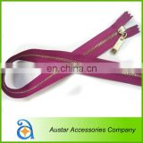 Eco-friendly Metal/Brass/Aluminum Zipper for Shoes