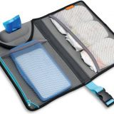 black foldable diaper changing mat with waterproof fabric
