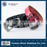 Woman dancing dress crystal belt