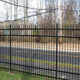 perimeter security metal tube fence for water treatment