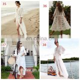 50styles Crochet White Knitted Beach Cover up dress Tunic Long Pareos Bikinis Cover ups Swim Cover up Robe Plage Beachwear
