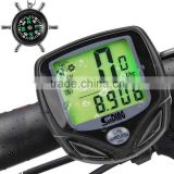 Bike Computer,Original Wireless Bicycle Speedometer with Compass Key Ring,Multi FunctionBike Odometer Cycling