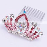wedding tiara crown FZZ-260 wholesale Rhinestone color