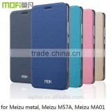MOFi Case Celular Housing for Meizu M1 Metal, Phone Handset Couqe Flip Leather Back Cover for Meizu Metal