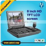 "8"" TFT-LCD Large screen High Speed Dome Camera 3D PTZ Keyboard Controller Control VEHICLE PTZ Camera"