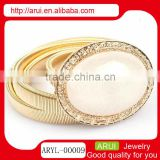 new products ladies waist chain solid gold chain white agate belly chain
