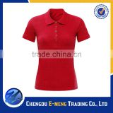 Hot sale Pique cotton women style 100% polo t-shirts in 2016                                                                         Quality Choice
