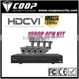 H.264 Dual-stream compression 4CH 1080P Full HD- CVI Security system