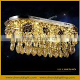 2016 Rectangular new brilliant led Crystal chandelier lights and suspension lamps