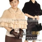 QD-LT8850 Fashion Fur Poncho Wholesale/Retail Shawl Falbala Rex Rabbit Fur Stole For Women 2013