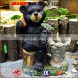 Cute cartoon black bear customized size funny sculpt resin statues