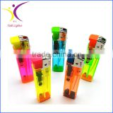 2016 Colored transparent gas lighters cigarette electronic lighter