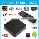 MXQ Amlogic S805 XBMC Media Player Quad Core Android 4.4 Smart TV BOX H.265 1080p 1G 8G Media Android Box