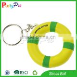 Partypro Wholesale Soft Toy Customize Donut Swim Ring KeyChain PU Stress Ball