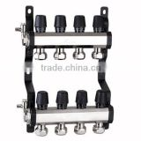 5 ports Hydronic manifold water manifold Floor Heating brass Manifold 4 ports 1' without any leak fm3040