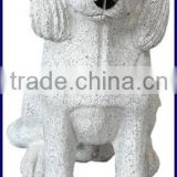 Life size garden fu dog marble statues