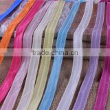 "5/8"" good quality Solid Color Fold Over Elastic Spandex Satin Band Lace Sewing Glossy Hair Ties Accessories"