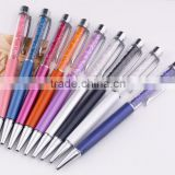 Cheap Crystal pen diamond ballpoint pens High quality crystal ball pens for School and Office 15 colors available