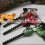 Magnesium Fire Starter Flint Outdoor Emergency Survival Tools With Compass