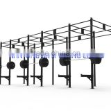 Factory sale crosffit gym equipment,Multi crossfit rig,Pull up Rig, 24 feet Crossfit Rig