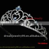 Wedding Bridal Tiara Rhinestone Silver Crystal Crown Pageant Prom Veil Headband metal crown decor