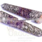 Orgonite Amethyst Aluminum Layer Faceted Energy Massage Wands : Orgonite Amethyst Massager