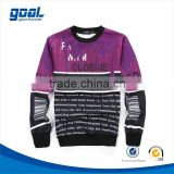 Latest design wholesale 100%polyester sublimation custom design men's crewneck sweatshirt