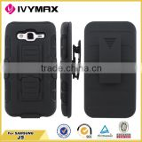 Heavy Duty Defender Robot Case Stand for samsung J5 Black