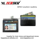 MK339 Hot sale black genuine leather men card holder RFID blocking short wallet                                                                                                         Supplier's Choice