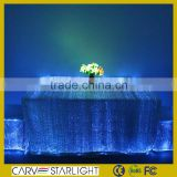 wholesale fiber optic luminous light fitted banquet table cover