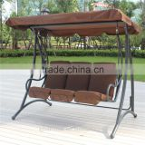 outdoor garden 3-seat pation swing chair/hollywoodschaukel/garden canopy swing chair/swing chair with cushion