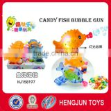 Hot selling candy popular Candy fish bubble gun 10pcs