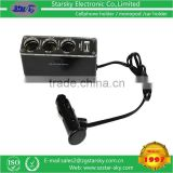 car charger AC DC Adapter/Switching power ,3 sockets with 1 USB port 12V Car Charger,USB DC 5V 500mA,DC 12V/24V