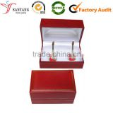 Red new style personalized cuff link storage box from manufacturer