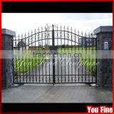 Home Decorative Galvanized Sliding Iron Driveway Gates