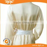 hotel quality bathrobe soft polycotton slik yellow bathrobe for promotion