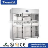 Commercial Hotel Refrigeration Equipment Stainless Steel Refrigerator Sliding Glass Doors