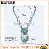 New arrival handmade turquoise beads short necklace