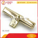 Zinc Alloy Metal logo tag maker with fake lock decoration