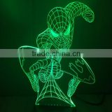 11-3d Acrylic Lamp Spider Man 3d Displaying 3d Visualization Mood Light 3d Sculpture Lamp