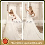 VDN15 Generous Strapless A Line Bridal Wedding Gown Directionally Pleated Bodice Dropped Waistline Wedding Dress for Weddings