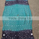 Terquise & blue Scarves Cotton Bandhage Tie & dye Scarves & stoles / 100% voile fabric printed dupatta