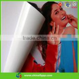vinyl sticker paper rolls self adhesive pvc outdoor indoor inkjet media printing solvent dye pigment printer materials