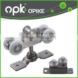 OPK Furniture Hanging Sliding Door Roller Fittings Wall Mount Track Aluminum Door Hardware