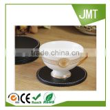Wholesale hot promotion custom logo leather table drink coaster set