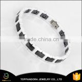 New Fashion Lover's Jewelry Anti-Aging Health Bio Elements Energy Magnetic White Ceramic Energy Bracelet