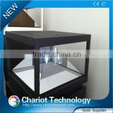 Newest! 22 inch 3d projection holographic interactive screen advertising showcase, display, pyramid with low price on sale.