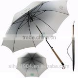 Gradient color 23''x8 panels bamboo brush handle straight umbrella auto open and manual close S10039
