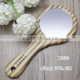 high quality antique wood wooden carved frame hand mirror